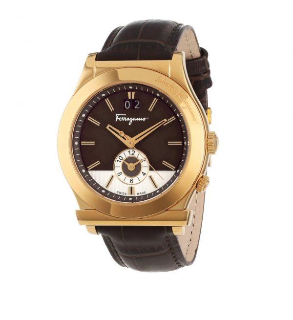 Salvatore Ferragamo Men's 1898 Gold Ion-Plated Watch Style F62LDT5095 S497