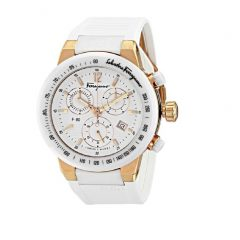 Ferragamo Gold IP Ceramic Chronograph Unisex Watch Style F55LCQ75101 S121 F-80